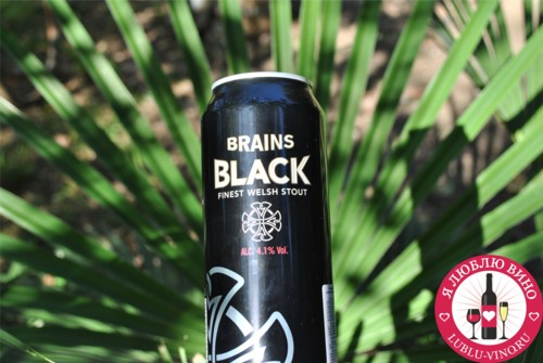 черное пиво Brains Black Stout