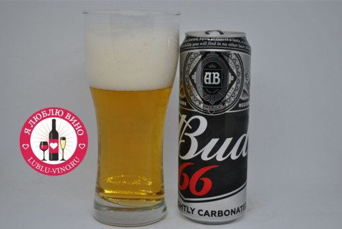 пиво Bud 66 lightly carbonated в черной банке